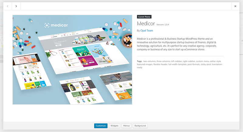 Medicor WordPress Theme
